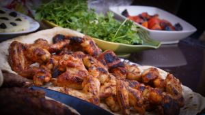 Grilled Chicken Wings with Lemon